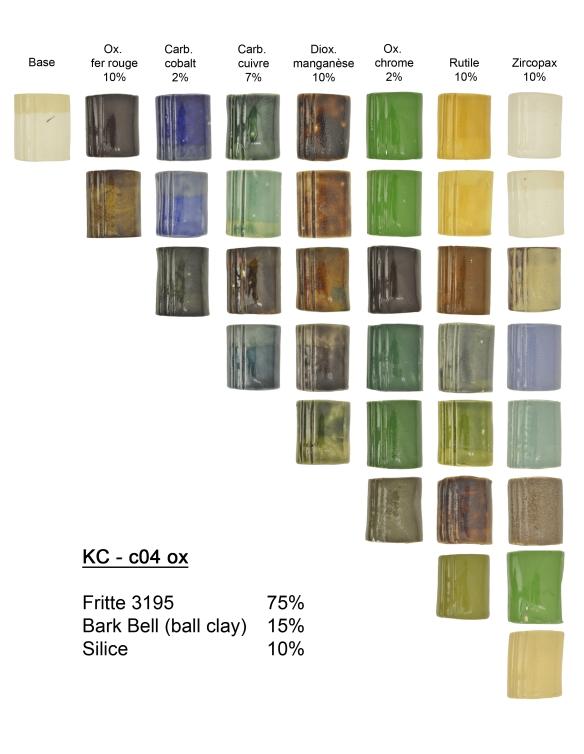 Tessons en porcelaine  HHP (Tucker's), extrémité en argile beige M340 (Plainsman)