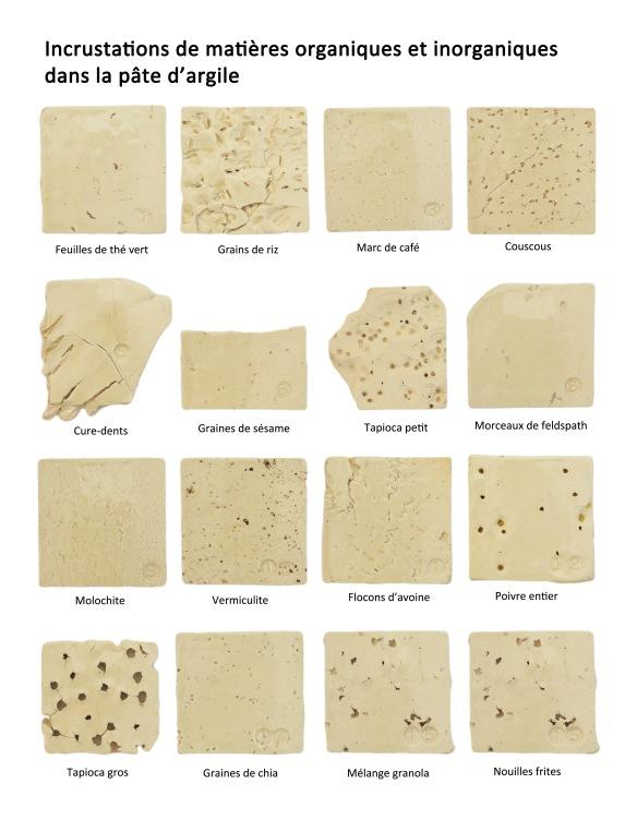 Tessons en argile blanche Mid Smooth Stone (Tucker's), le côté droit est émaillé d'une glaçure transparente
